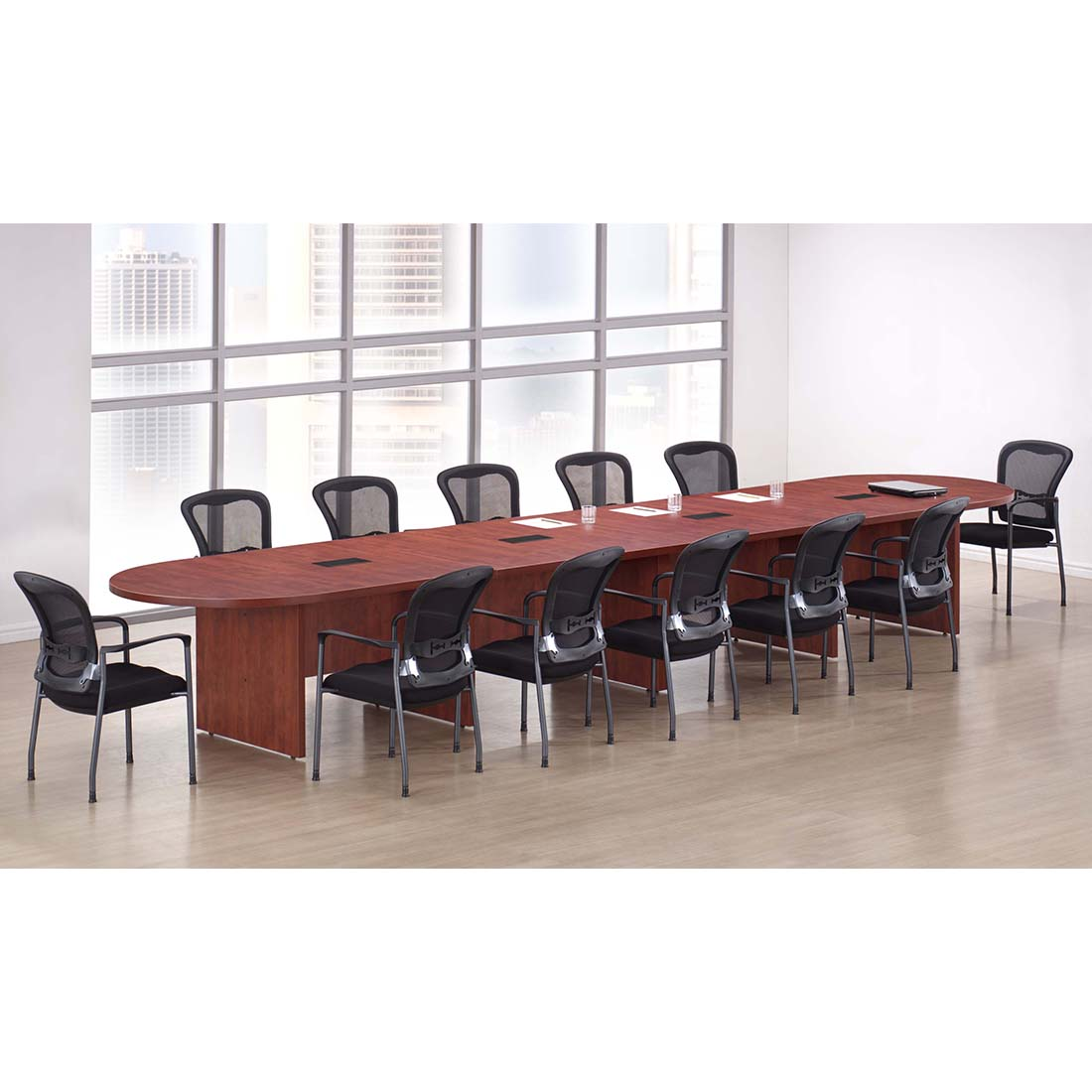 PLBoardtableExtlongRmSceneGrommet Bnn Office Furniture - Conference room table grommets
